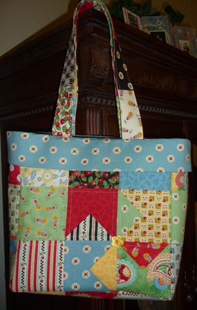 quilted purse cherries