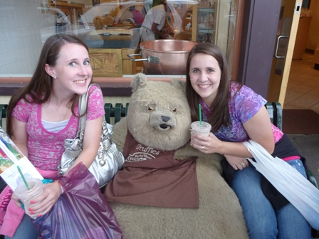 ally and lindsey with bear