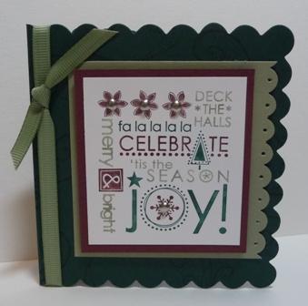 celebrate the season scalloped notecard
