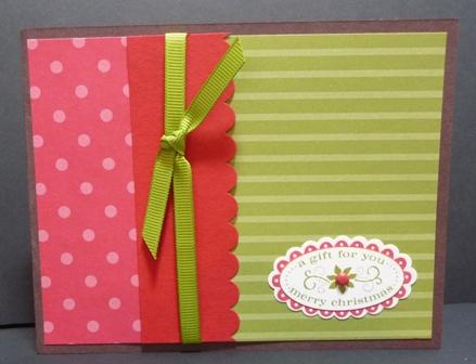 christmas punch card set #3