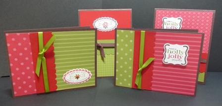 christmas punch card set