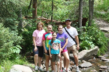 family hiking small size