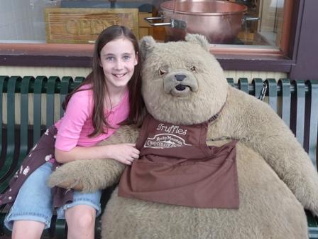 sarah with bear