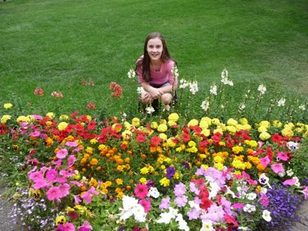 sarah with flowers