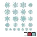 felt snowflakes small