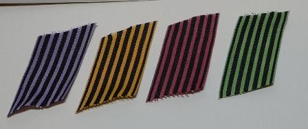 striped ribbon samples