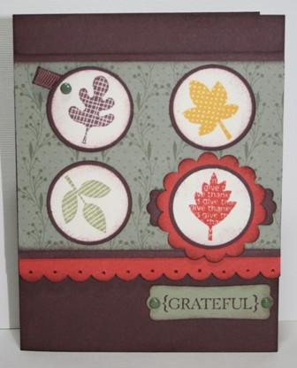 falling leaves grateful card
