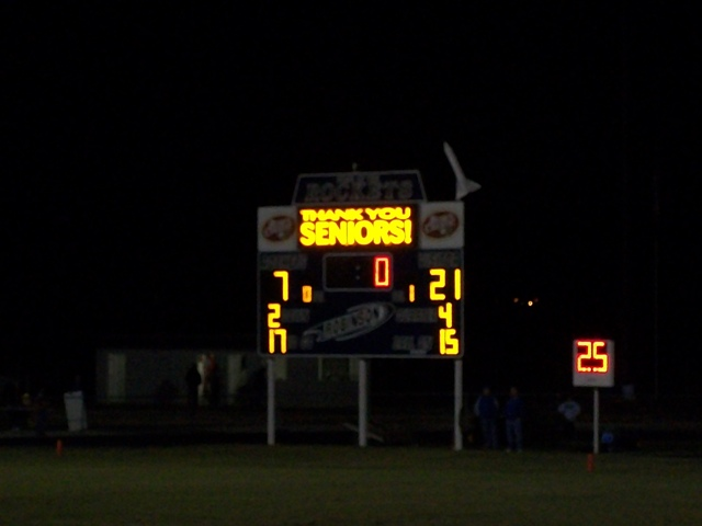 robinson game score board