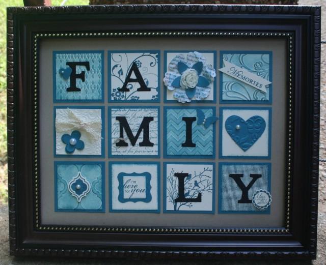 Island Indigo Family Frame