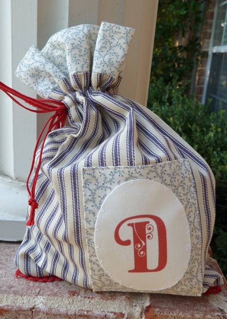 fabric monogram bag 1